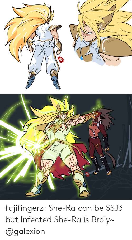 Broly: fujifingerz:  She-Ra can be SSJ3 but Infected She-Ra is Broly~  @galexion