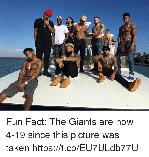 Football, Nfl, and Sports: Fun Fact: The Giants are now 4-19 since this picture was taken https://t.co/EU7ULdb77U