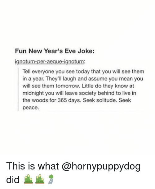 fun new year s eve joke gn tell everyone you see today that you will