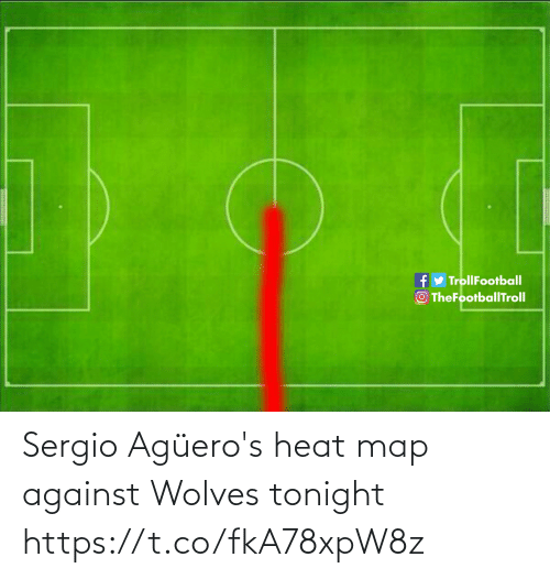 Against: fy TrollFootball  O TheFootballTroll Sergio Agüero's heat map against Wolves tonight https://t.co/fkA78xpW8z