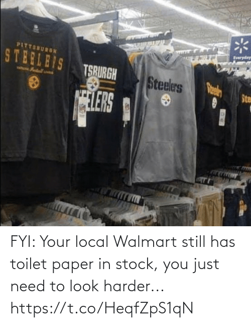 Walmart: FYI: Your local Walmart still has toilet paper in stock, you just need to look harder... https://t.co/HeqfZpS1qN