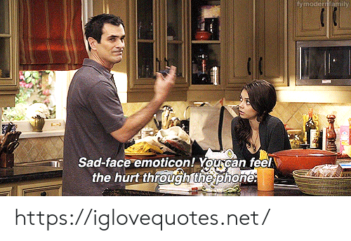 emoticon: fymodern amily  Sad-face emoticon! Yourcan feel  the hurt through the phone. https://iglovequotes.net/