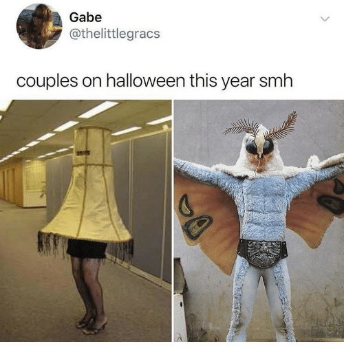 Halloween, Smh, and This: Gabe  @thelittlegracs  couples on halloween this year smh