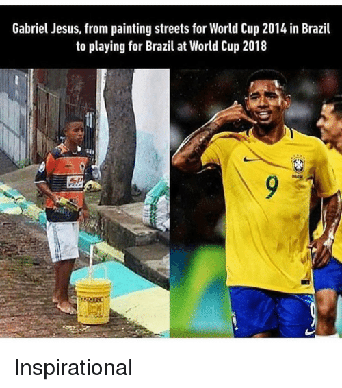 Gabriel Jesus: Gabriel Jesus, from painting streets for World Cup 2014 in Brazil  to playing for Bail a World Cup 2018 Inspirational