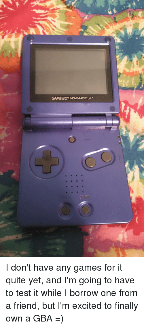 Game, Games, and Quite: GAME BOY ADVANCE SP