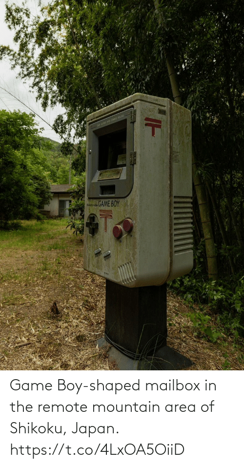 remote: Game Boy-shaped mailbox in the remote mountain area of Shikoku, Japan. https://t.co/4LxOA5OiiD