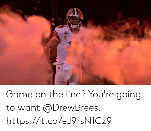 Memes, Game, and 🤖: Game on the line?  You're going to want @DrewBrees. https://t.co/eJ9rsN1Cz9
