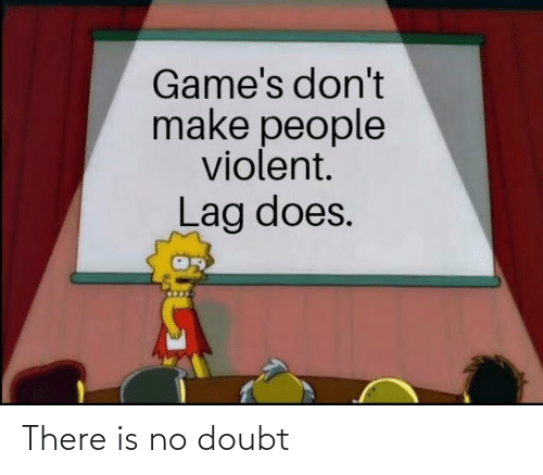Violent: Game's don't  make people  violent.  Lag does. There is no doubt