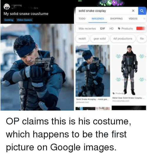 Gaming Ut Solid Snake Cosplay My Solid Snake Coustume Gaming