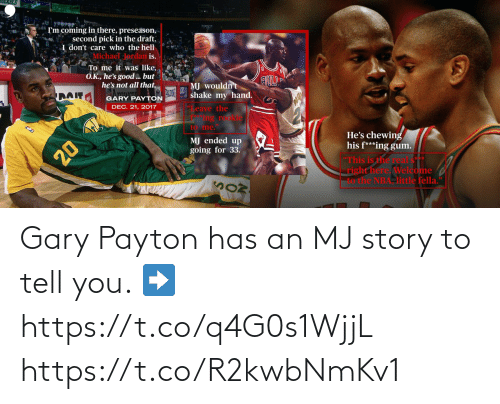 to-tell-you: Gary Payton has an MJ story to tell you.   ➡️ https://t.co/q4G0s1WjjL https://t.co/R2kwbNmKv1
