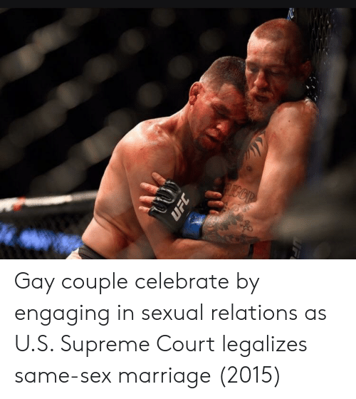 Marriage, Sex, and Supreme: Gay couple celebrate by engaging in sexual relations as U.S. Supreme Court legalizes same-sex marriage (2015)