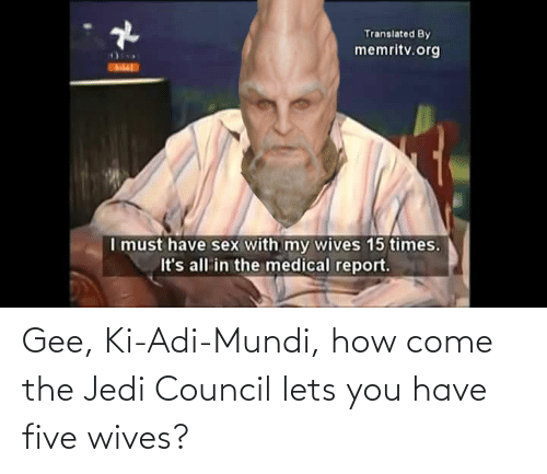 gee: Gee, Ki-Adi-Mundi, how come the Jedi Council lets you have five wives?