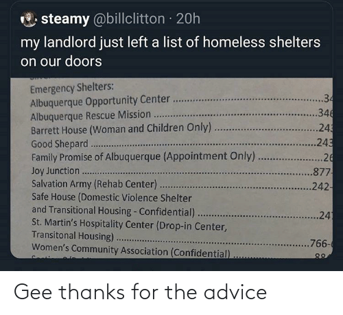 gee: Gee thanks for the advice