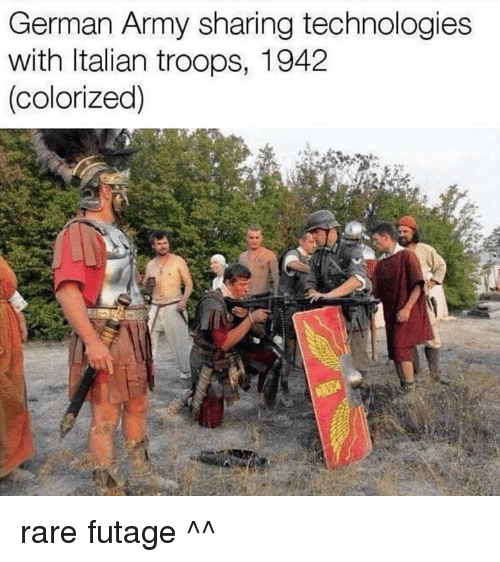 Army, Polandball, and Rare: German Army sharing technologies  with Italian troops, 1942  (colorized) rare futage ^^