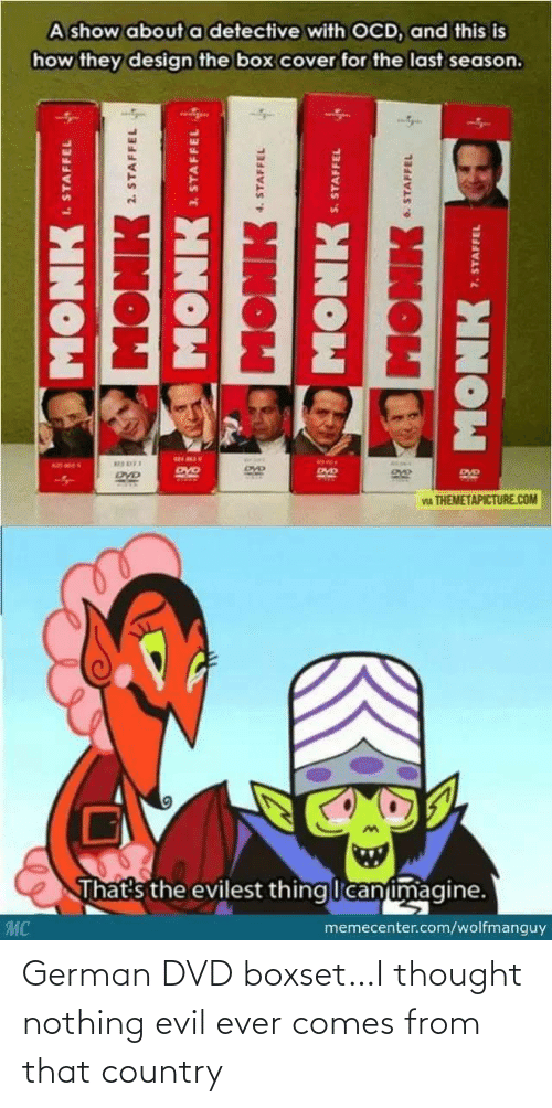 german: German DVD boxset…I thought nothing evil ever comes from that country