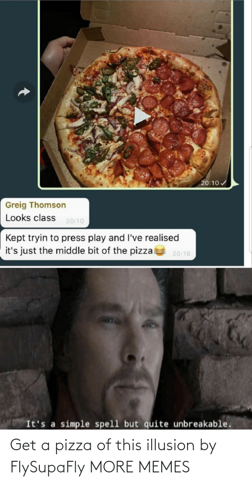 Get A: Get a pizza of this illusion by FlySupaFly MORE MEMES
