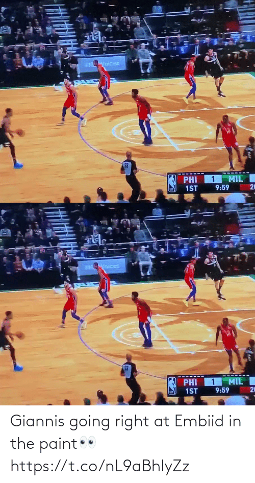 giannis: Giannis going right at Embiid in the paint👀 https://t.co/nL9aBhlyZz