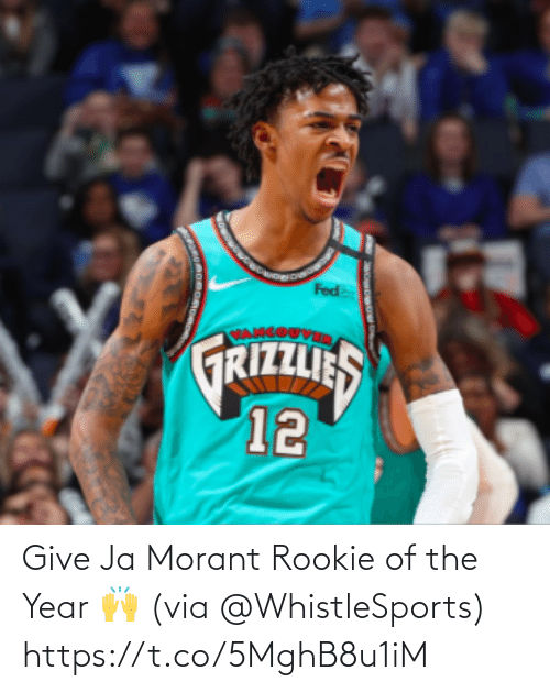 ballmemes.com: Give Ja Morant Rookie of the Year 🙌 (via @WhistleSports) https://t.co/5MghB8u1iM