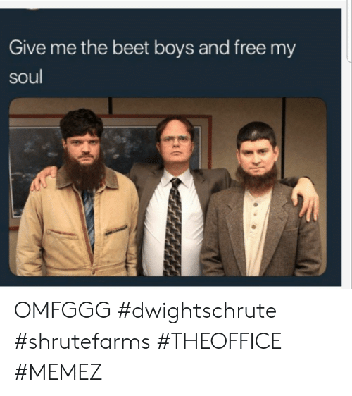 Free, Boys, and Soul: Give me the beet boys and free my  soul OMFGGG #dwightschrute #shrutefarms #THEOFFICE #MEMEZ