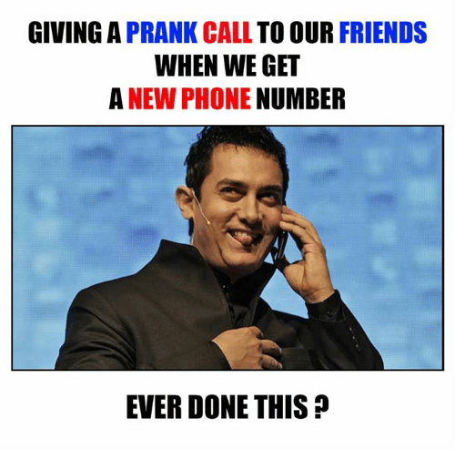 GIVING a PRANK CALL TO OUR FRIENDS WHEN WE GET a NEW PHONE