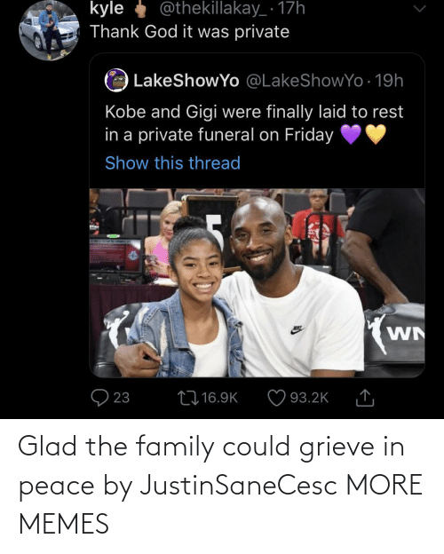 the family: Glad the family could grieve in peace by JustinSaneCesc MORE MEMES