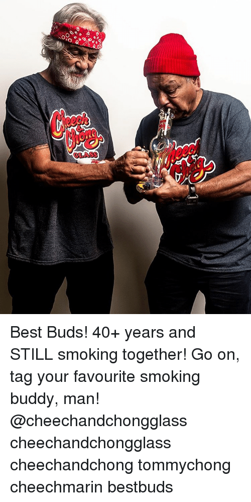 Memes, 🤖, and Glass: GLASS Best Buds! 40+ years and STILL smoking together! Go on, tag your favourite smoking buddy, man! @cheechandchongglass cheechandchongglass cheechandchong tommychong cheechmarin bestbuds