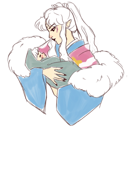 yes: gobodosama:this is a redraw…but hello yes new momma inukimi, just bury me now thanks!!!!!!!