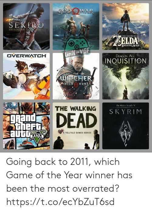 Been: Going back to 2011, which Game of the Year winner has been the most overrated? https://t.co/ecYbZuT6sd