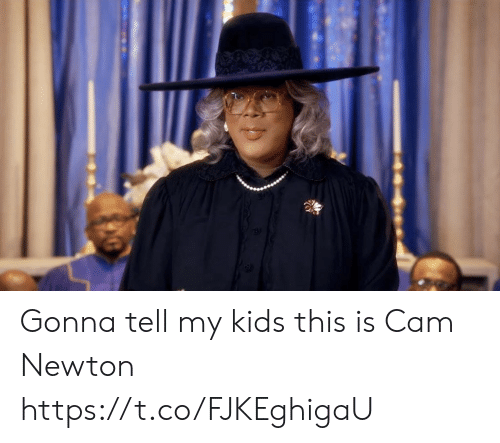newton: Gonna tell my kids this is Cam Newton https://t.co/FJKEghigaU