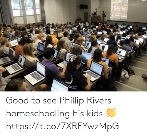 Football, Nfl, and Sports: Good to see Phillip Rivers homeschooling his kids 👏 https://t.co/7XREYwzMpG