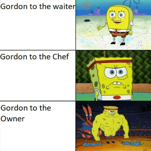 Chef, Owner, and Gordon: Gordon to the waiter  Gordon to the Chef  Gordon to the  Owner  |30