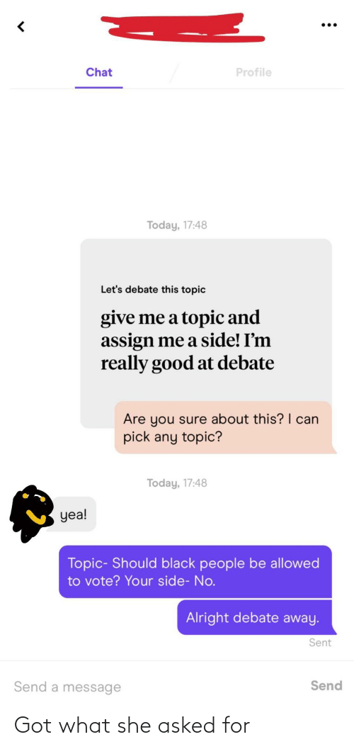Asked: Got what she asked for
