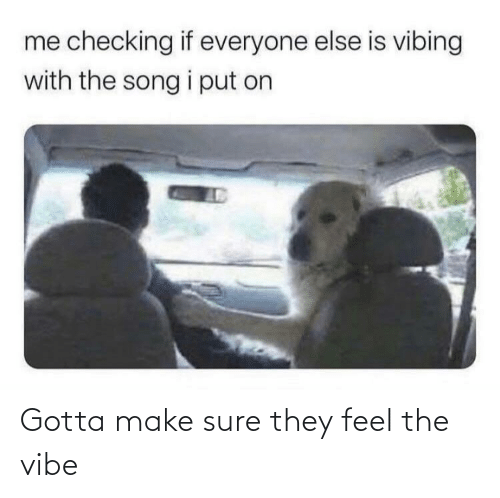 The Vibe: Gotta make sure they feel the vibe