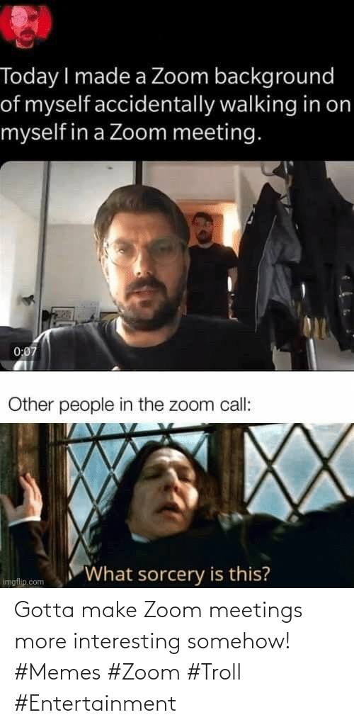 Troll: Gotta make Zoom meetings more interesting somehow! #Memes #Zoom #Troll #Entertainment