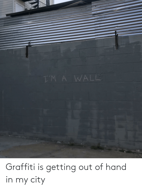 out-of-hand: Graffiti is getting out of hand in my city