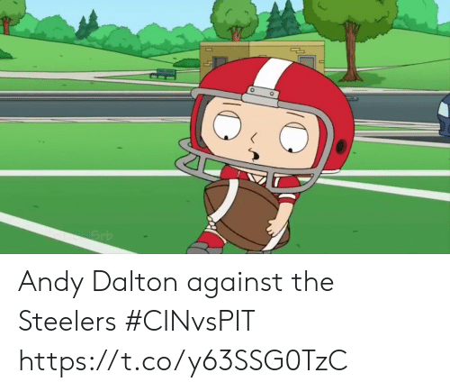 Andy Dalton: Grb Andy Dalton against the Steelers #CINvsPIT https://t.co/y63SSG0TzC