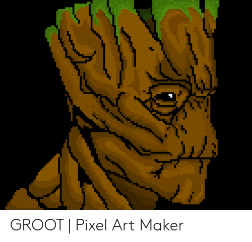 Groot Pixel Art Maker Art Meme On Ballmemescom