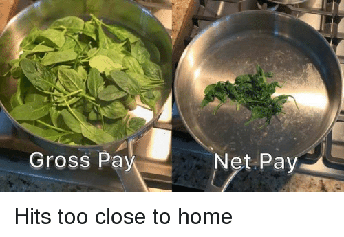Close To Home: Gross Pay  Net Pay Hits too close to home