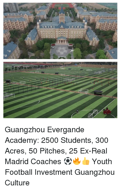 Football, Memes, and Real Madrid: Guangzhou Evergande Academy: 2500 Students, 300 Acres, 50 Pitches, 25 Ex-Real Madrid Coaches ⚽️🔥👍 Youth Football Investment Guangzhou Culture