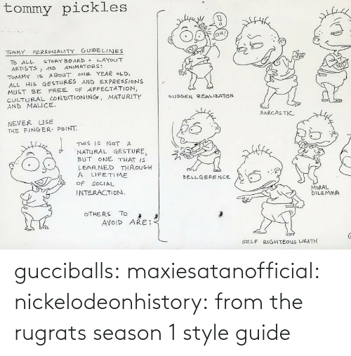 guide: gucciballs:  maxiesatanofficial: nickelodeonhistory: from the rugrats season 1 style guide