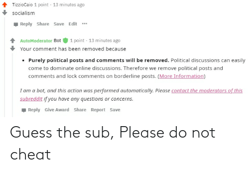 Please Do: Guess the sub, Please do not cheat
