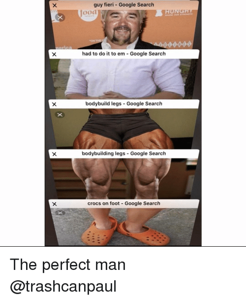 Bodybuilding: guy fieri - Google Search  jood  had to do it to em - Google Search  bodybuild legs Google Search  bodybuilding legs-Google Search  crocs on foot Google Search The perfect man @trashcanpaul