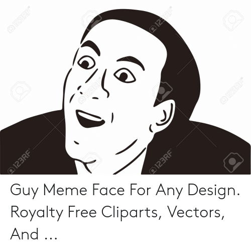 Any Design: Guy Meme Face For Any Design. Royalty Free Cliparts, Vectors, And ...