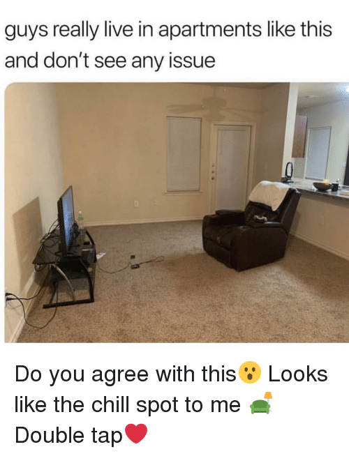 Chill, Memes, and Live: guys really live in apartments like this  and don't see any issue Do you agree with this😮 Looks like the chill spot to me 🛋 Double tap❤️