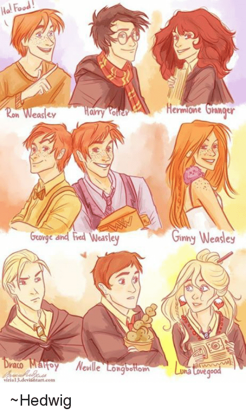Hermione, Memes, and Reds: Ha Food! amy Weasley of 6rorge and Red