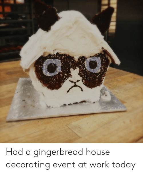Had a Gingerbread House Decorating Event at Work Today