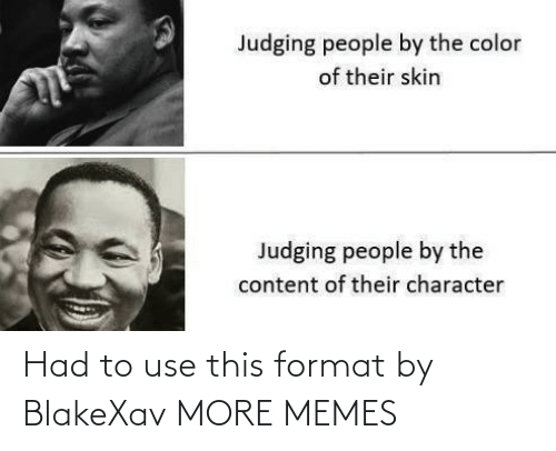 use: Had to use this format by BlakeXav MORE MEMES