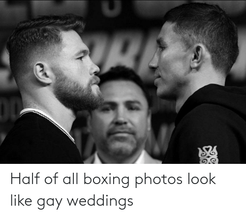 Half: Half of all boxing photos look like gay weddings