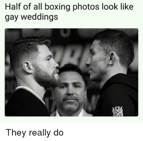 Boxing, Gay, and Photos: Half of all boxing photos look like  gay weddings They really do