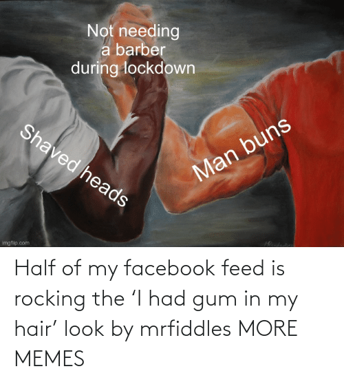 Feed: Half of my facebook feed is rocking the 'I had gum in my hair' look by mrfiddles MORE MEMES